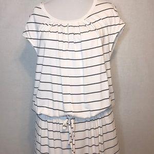 Banana Republic | Striped Dress | White/Black | L